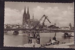 Köln - S/w Deutzer Brücke Mit Dom - Koeln