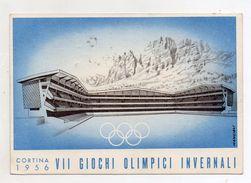 Italia - Cortina D'Ampezzo (Belluno) - 1956 - VII Giochi Olimpici Invernali - Con Doppio Annullo Filatelico - (FDC5594) - Olympic Games