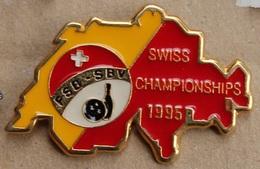 SWISS CHAMPIONSHIPS 1995 - CHAMPIONNAT SUISSE DE BOWLING 1995 - FEDERATION - FSB - SBV - BOULE - QUILLE -   (ROUGE) - Bowling