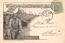 EXPOSITION UNIVERSELLE ET INTERNATIONALE DE LIEGE 1905 - LE COMMERCE - BELLE CARTE - Liege