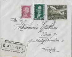ARGENTINA CORREO AEREO 1953 - R-Letter To Berne/SUIZA - Poste Aérienne