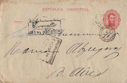 REPUBLICA ARGENTINA 1889 - R-Letter, Very Rare - Entiers Postaux