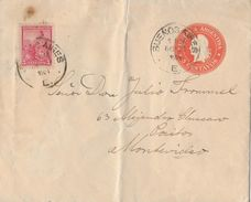 REPUBLICA ARGENTINA 1901- Letter From Buenos Aires To Montevideo, Franqueo Adicional - Entiers Postaux