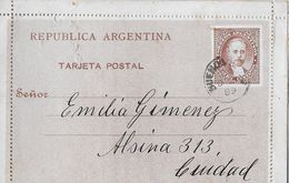 REPUBLICA ARGENTINA 1889 - Tarjeta Postal Buenos Aires - Entiers Postaux