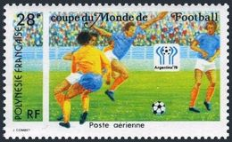 Soccer Football French Polynesia #255 1978 World Cup Argentina MNH ** - 1978 – Argentine