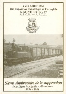 MONTGUYON 1984 Supression Ligne SNCF St Aigulin Mirambeau Imp Bonet  MONTENDRE 17  (scan Recto-verso) KEVREN0608 - Montendre