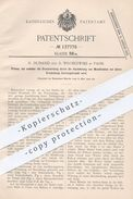 Oroginal Patent - H. Dunand U. R. Wroblewski , Paris , 1902 , Presse , Pressen | Druck , Druckpresse , Druckkraft !! - Historical Documents