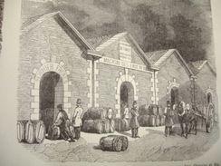 Gravure PARIS XIXe : Entrepôt Général Des Vins - Estampas & Grabados
