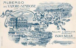 Isola Bella - Lago Maggiore - Albergo Del Vapore E Sempione - - Como