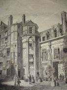 Gravure PARIS XIXe : Maison Reine Blanche, Rue Saint Antoine 102 - Estampas & Grabados