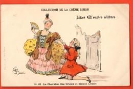 NEK-01  Les Couples Célèbres Le Chevalier Des Grieux Et Manon Lescot. Collection De La Crème Simon. Circulé En 1910 - Other Famous People