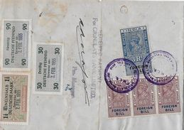 INDIA 1955 - Bill Of Exchange (Grindlays Bank Calcutta) Mit Deutsche Wechselsteuermarken, Extremly Rare - 1950-59 République
