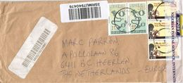 Nigeria 2016 Calabar Slave Chains Bank Barcoded Registered Cover Checked And Resealed At Lagos - Nigeria (1961-...)