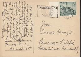 DR 740 Ef Auf Postkarte Mit Zeichnung: Pagode, Stupa, Mit Stempel: Hannover 18.9.1940 - Deutschland