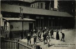CPA PARIS (18e) Ecole Saint-Louis Et Patronage Paroisse De Clignancourt (538074) - Francia