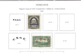 Honduras 1931 Stamps Ovpr. Scott. 310+312+ N.2 Valori See Scans Nuovo/Usati - Honduras