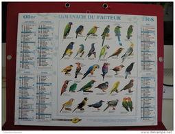 Les Oiseaux / Poisson , Calendrier Almanach Du Facteur - Oller - 2008 - 2 Photos - Tamaño Grande : 2001-...
