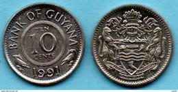 R80/  GUYANA  10 Cents 1991 - Guyana