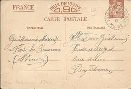 Meuse : Carte Postale Entier Postal Type Iris Avec CAD Pointillés De Fains-les-Sources De 1941. Très Bon état - Marcophilie (Lettres)