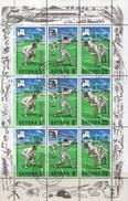 Cricket Olympia 1968 GUYANA 298/0 Im 9-Kleinbogen O 6€ Spieler Wap S/s Sport Se-tenant/sheetlet M/s Of Tour America - Summer 1968: Mexico City