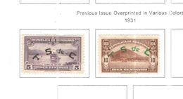 Honduras 1931 P.A.Ovpr.+.Scott. C51+52+ N.2 Valori See Scans Nuovo/Usati - Honduras