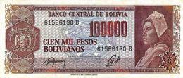 BOLIVIA 100000 PESOS BOLIVIANOS 1984 P-171a XF [BO171a] - Bolivia
