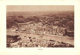 """1937 - 4 Photos Sépia 20/ 30 Cm """" Cruas, Usine De Ciment - Viviers Donzère - Vienne & Le Rhône à St Vallier""""  TTBE état - Vieux Papiers"""