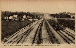 91 ATHIS MONS Vue Sur La Ligne De Chemin De FeR - Athis Mons