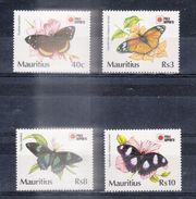 ILE MAURICE (MAURITIUS) - Timbre Poste Année 1991 - N° 739 à 742 (4 Timbres) - Phila Nippo 91 - Mauritius (1968-...)