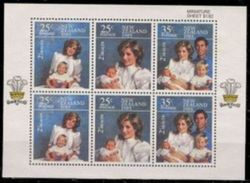 1985  New Zealand Health Semi-Stamps S/s - Princess Diana Royal - First Aid