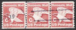 United States - Scott #1947 Used - Strip Of 3 - Rollenmarken