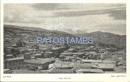 78731 BOLIVIA LA PAZ VIEW PARTIAL POSTAL STATIONERY POSTCARD - Bolivia