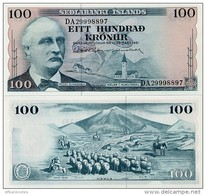 ICELAND        100 Krónur       P-44a       L. 29.3.1961       UNC  [ Sign. 38 ] - Islanda