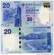 HONG KONG - BoC     20 Dollars     P-341c        1.1.2013         UNC - Hong Kong
