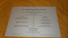 GRAND MENU ANCIEN DE 1962. / CLUB GASTRONOMIQUE PROSPER MONTAGNE. / GRAND DINER DE PRINTEMPS.. RELAIS GASTRO. PARIS EST. - Menus