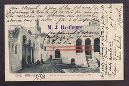 CPA MAROC - TANGER - Maison Du Gouverneur ( à La Kasbah ) TB PLAN EDIFICE CENTRE VILLE TB Oblitération Recto Verso 1903 - Tanger