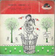 """45 Tours EP - MARCEL AMONT - POLYDOR 20721  -   """" LES AMOUREUX DE PAPIER """" + 3 ( Déssin De: PEYNET ) - Vinyles"""