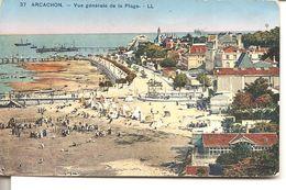 ARCACHON - Vue Générale De La Plage - Arcachon