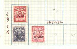 Honduras 1914 T.Sierra Surch.  Scott.162+164+165+ N.03 Valori Nuovi/Usati See Scans - Honduras