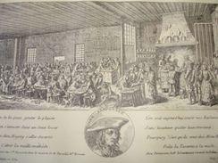Gravure PARIS XIXe : L'ancien Ramponneau En 1758 - Estampas & Grabados