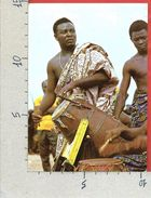 CARTOLINA VG GHANA - Drummers In Action - 10 X 15 - ANN. 1985 - Ghana - Gold Coast