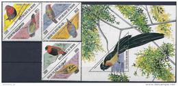 1999 BENIN 950-55+ BF 60**  Oiseaux, Timbres Triaangulaires - Benin – Dahomey (1960-...)