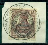 Deutsches Reich / Abstimmungsgebiete. Allenstein, Aufdruck Auf Germania, Nr. 18 Auf Briefstück - Deutschland