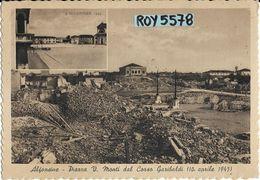 Emilia Romagna-ravenna-alfonsine Piazza V.monti Dal Corso Garibaldi Vedutina Anteguerra E Veduta Dopo Guerra Anni 40 - Altre Città
