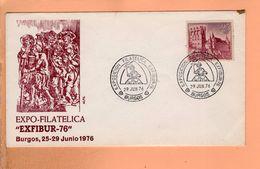 Enveloppe Expo Filatelica Exfibur 76 Burgos 1976 - Espagne