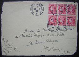 Postes Aux Armées 1946 Sur Devant De Lettre Bel Affranchissement Pour Strasbourg - 1921-1960: Période Moderne