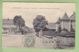 CHAMPAGNEY : Le Centre, Le Château, Chemin Des Houillères De Ronchamp . 2 Scans. Edition Reuchet - France