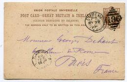 IRLANDE  Entier Postal 1889 - Stamped Stationery, Airletters & Aerogrammes
