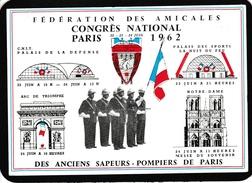 17 / 9 / 405  - CONGRÈS  NATIONAL  PARIS  1962    -  DES  ANCIENS  SAPEURS - POMPIERS  DE  PARIS - CPM ( GRD MOD. ) - Sapeurs-Pompiers