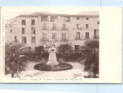 ESPAGNE - Jativa --  Plaza De La Seo Y Estatua - Autres
